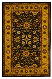 New Traditional Oriental Area Rug 8 Feet X 10 Feet , Gold, Black, Carpet, Soft Rug, Stain Resistant, Foyer, Dining Room, Living Room, bedroom