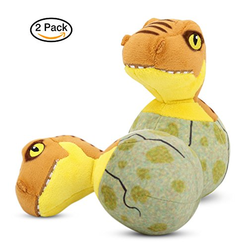 PAWABOO Stuffed Dinosaur Dog Toys, [2PACK] Bed Time Plush Animal Toys Soft Dinosaur for Kids,Puppy Bite Play Chew Toys for Pet, Non-toxic, (Balls 2 Pack Cat Toy)