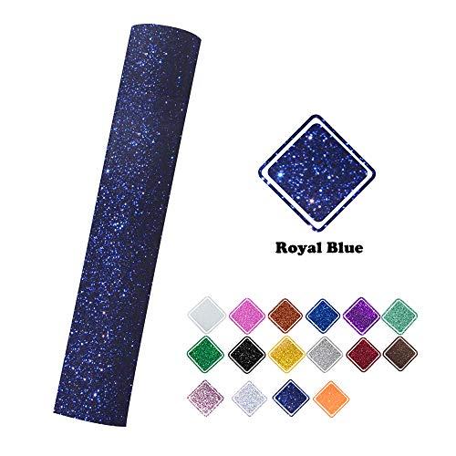 Royal Blue Glitter Heat Transfer Vinyl Iron on Vinyl 9.8x60(0.8x5ft) for Cameo for T-Shirt