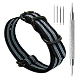 CIVO Heavy Duty G10 Zulu Military Watch Bands NATO Nylon Watch Strap Stainless Steel Rings 20mm 22mm 24mm