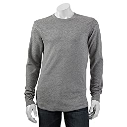 Croft & Barrow Long Sleeve Thermal Crew Shirt for Men Gray Large