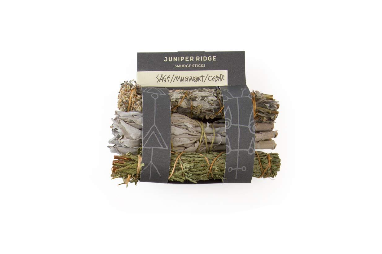 Juniper Ridge Smudge Sticks – Mini 3 Pack – Sage Mugwort Cedar – Varietyパック B00FZW40O0