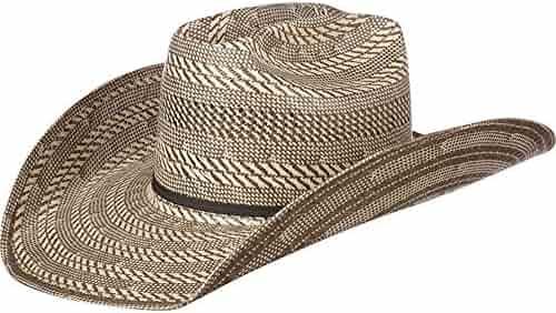 NRS American Hat Company Mens 20 Star 2 Tone Grey Ivory Straw 4 1  e742c52f4066