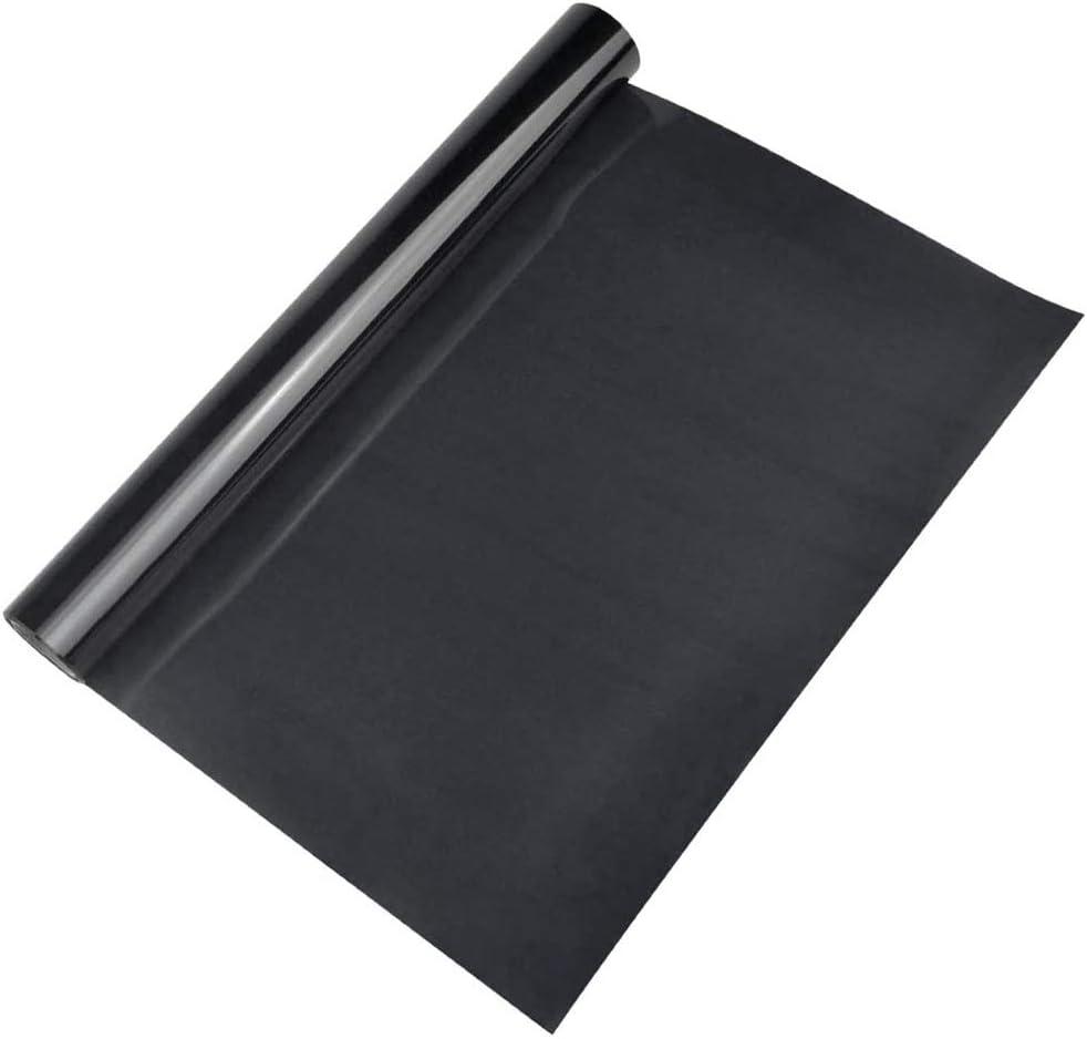 1 Rollo de Vinilo de Transferencia de Calor Papel de Transferencia Negro Dimensiones 30 cm x 200 cm para Camisetas Ropa Sombreros Bolsos y la Mayor/ía de las Superficies Textiles
