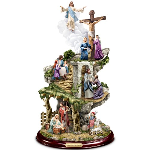 Thomas Kinkade Life Of Christ Sculpture by The Bradford Exchange (Sculpture Base Supplier)