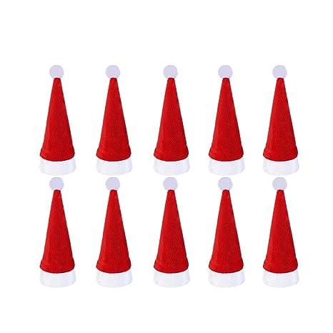 Toyvian 10 unids Navidad Cubiertos de Plata Bolsillos con Sombrero de Navidad en Forma de Vacaciones