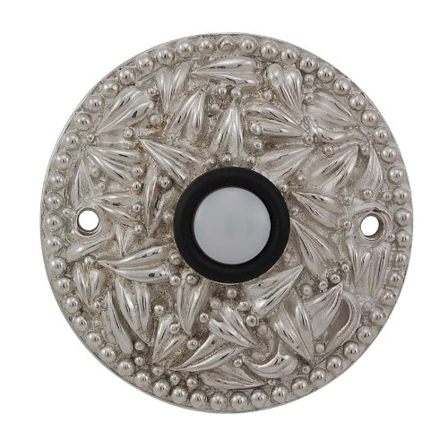 (Vicenza Designs D4013 San Michele Round Doorbell, Polished Silver)