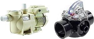 Pentair SuperFlo VS Variable Speed Pool Pump, 342001 & Flow Vis H2flow Controls Inc 1.5 inch FlowVis Flow Meter FV-C-15