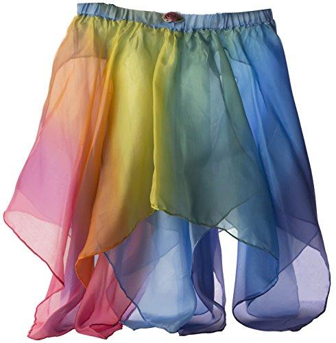 Sarah's Silks Reversible Silk Fairy Skirt (Blue/Rainbow)
