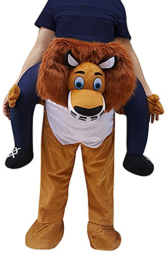 Creative Apparel Lion Funny Piggyback, Ride-on Shoulder, Carry Me Costume for Adults, One Size