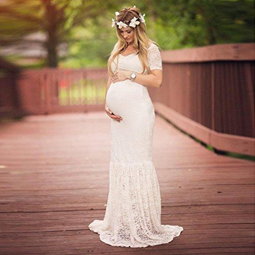 Perspectiva Blanco Manga Faldas Pure Elegante Mujer Corta Color Moda Encaje Largo Chic Vestido 2018 Embarazada para Slim Embarazadas Noche Falda Adeshop Mujer de Estrecho 5wx0qgA4q