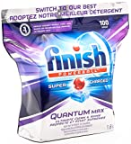 Finish Quantum Max Fresh, Automatic Dishwasher Detergent Tablets Mega Value Pack (100 Tablets)
