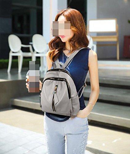 Damas Corea Tendencia De La Moda Los Estudiantes De Viento De La Universidad Paquete De Viaje Mochila Yellow