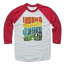 Janis Joplin Love T Rock Baseball T-Shirt by 500 LEVEL