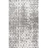 Nuloom BDSM08A-76096 Misty Contemporary Granite Mist Shades Rug44; Grey - 7 ft. 6 in. x 9 ft. 6 in.