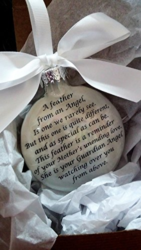 (Mother Memorial Christmas Ornament A Feather from an Angel In Memory Keepsake Sympathy Remembrance)