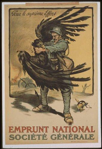 1918-photo-emprunt-national-socit-gnrale-pour-le-suprme-effort-a-french-soldier-strangling-the-imper