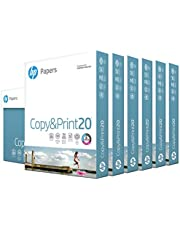 HP Printer Paper 8.5x11 Copy&Print 20 lb 6 Pack Case 2400 Sheets 92 Bright Made in USA FSC Certified Copy Paper HP Compatible 200010C