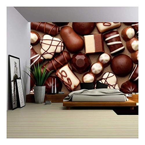 wall26 - Chocolate Sweets - Removable Wall Mural | Self-Adhesive Large Wallpaper - 66x96 inches