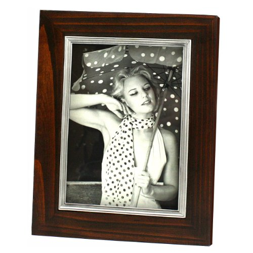 Fetco Home Decor Robbins Java with Pewter Bezel Photo Frame, 5 by 7-Inch