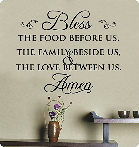 29-Bless-the-Food-Before-Us-the-Family-Beside-Us-and-the-Love-Between-Us-Wall-Decal-Sticker-Art-Mural-Home-Dcor-Quote-Lettering-Christian-Thanksgiving-Kitchen-Table