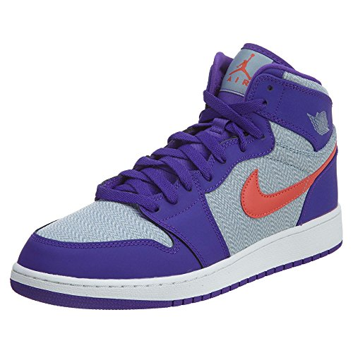 Basketballschuhe High Purple Retro Mädchen Grey Ember Nike Air Gg Jordan Fierce Azul Glow 1 White Blue w10q6A