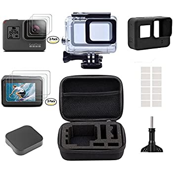 Accessories set for GoPro Hero 6 5 ,Gopro Hero5 Accessory Kit Small Travel Case ,Housing Case, Screen Protector ,Lens Cover ,Silicone Protective Case for Go Pro Hero5 Outdoor Sport Action camera Kit