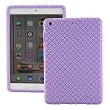 ipad 1 skin - ScintiSpot iPad Mini 3 / 2 / 1 Back Case Cover, Silicone Rubber Protective Skin Soft Gel Bumper, Impact Resistant / Kids Friendly / Drop-proof / Shockproof (Purple)