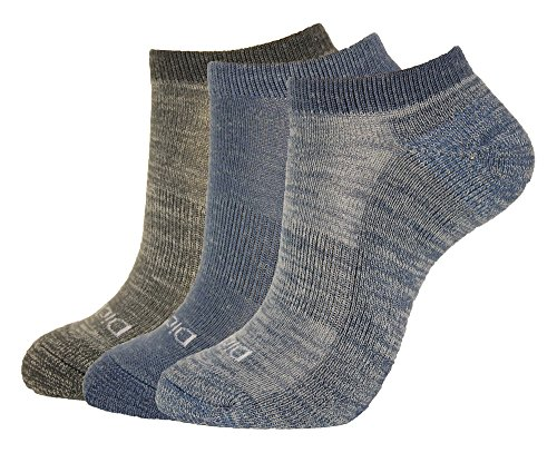 Dickies Women's 3-Pack Soft Light Wool Keeps Feet Dry All Year Ankle Socks, Blue, Shoe Size: 6-9 Size: 9-11