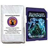 AtmosFearFX Phantasms SD Card and Reaper Brothers High Resolution Window Projection Screen for Virtual Halloween Videos