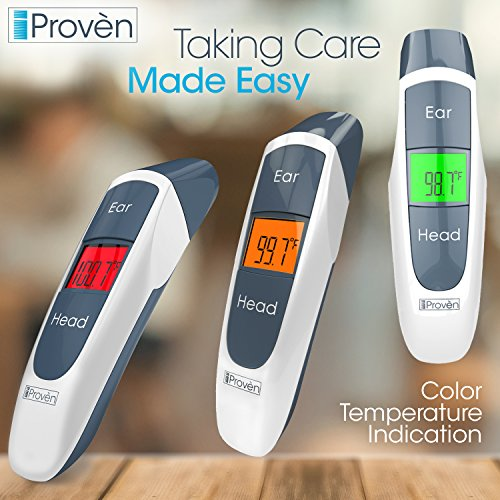 Best Medical Digital Ear Thermometer (Termometro) with Temporal Forehead Function - for Baby, Infant and Kids - Upgraded Tympanic Fever Scan Lens Technology for Unmatched Accuracy - New 2018 DMT-316b by iProvèn (Image #5)