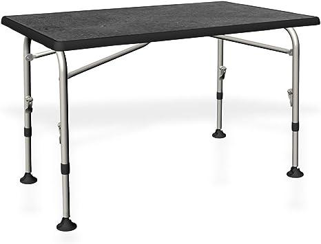 Mesa de camping – Stabielo – Regulable sin sin con peldaños – plegable – Agua fija tablero – Estructura sólida de aluminio de camping mesa 100 x 59/72 x 68 cm – 6,