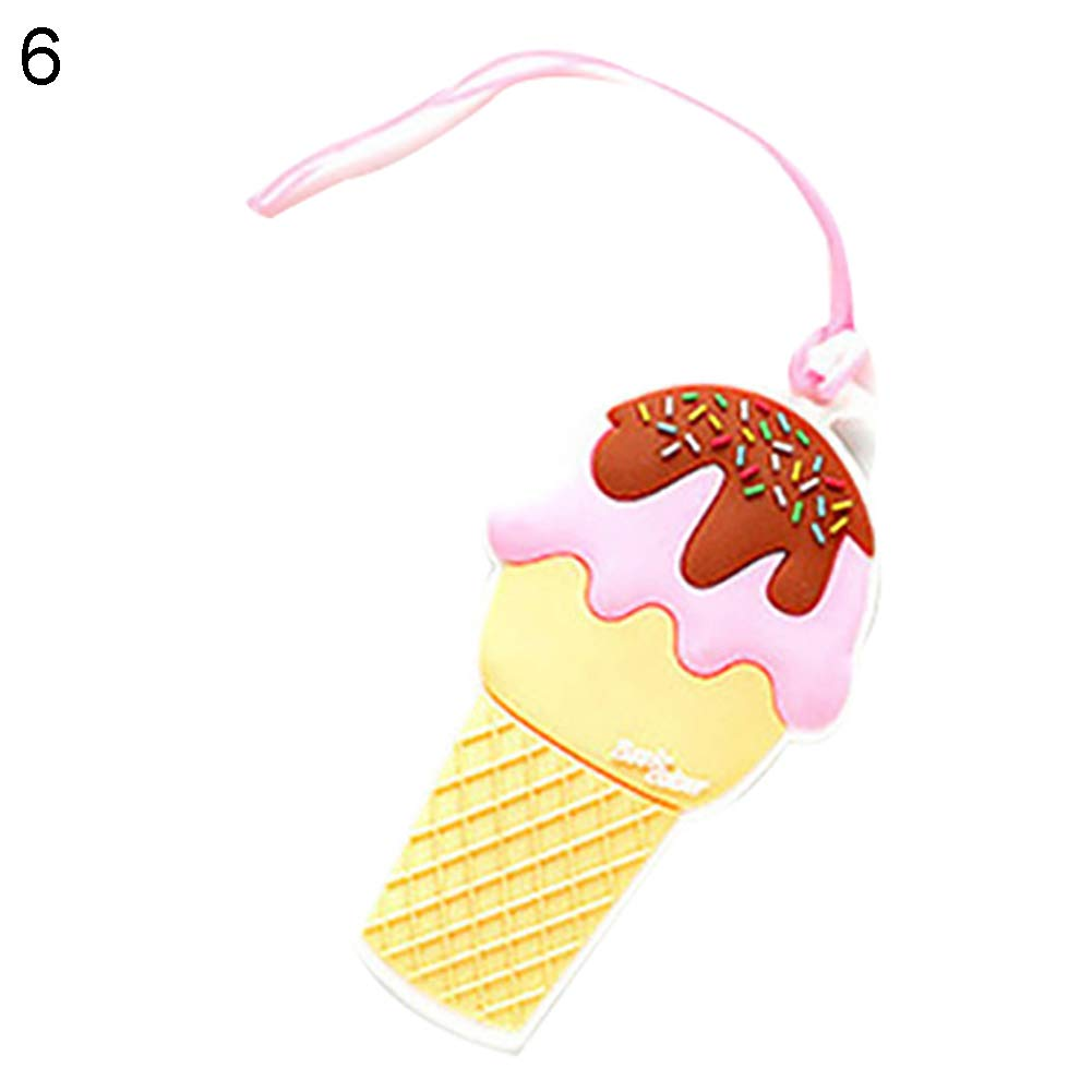 Creative Ice Cream Travel Luggage Tag Suitcase ID Address Baggage Boarding Label - 6# Qsbai