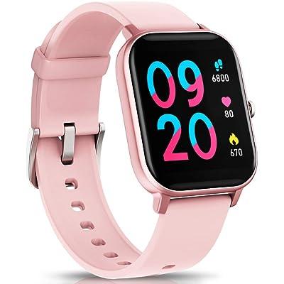 """NAIXUES Smartwatch, Reloj Inteligente Impermeable IP67 Reloj Deportivo 1.4"""" Pantalla Táctil Completa con Pulsómetro, Monitor de Sueño, Podómetro, Notificaciones para Mujer Hombre"""