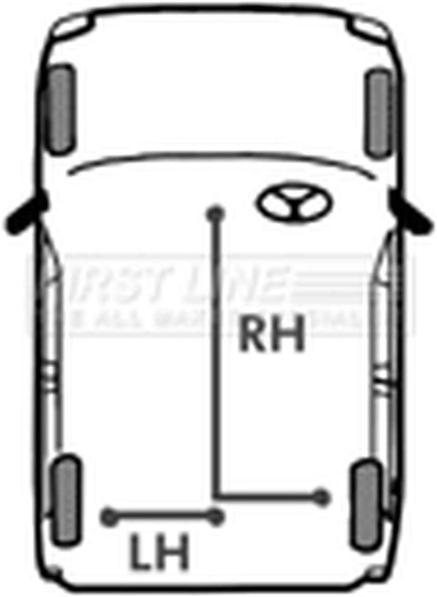 First Line FKB1202 Brake Cable Rear RH