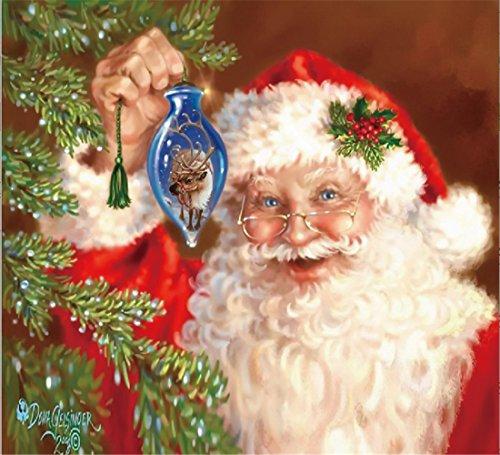YEESAM ART New 5D Diamond Painting Kit - Santa Claus Christmas Tree Deer - DIY Crystals Diamond Rhinestone Painting Pasted Paint by Number Kits Cross Stitch Embroidery (Santa Claus)