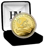 """NFL Pittsburgh Steelers Super Bowl 40 Champions Coin, 8"""" x 4"""" x 1"""", Gold"""