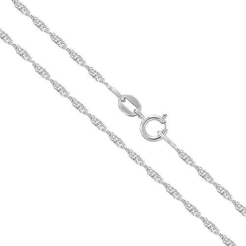 Amazon.com: Verona Jewelers - Collar y tobillera de plata de ...