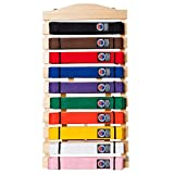 Martial Arts Belt Display Wall Rack Holder for Karate Taekwondo Belts