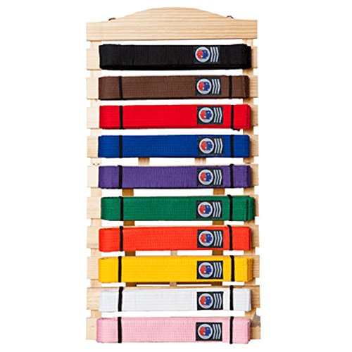 Martial Arts Belt Display Wall Rack Holder for Karate Taekwondo Belts (Belts Do Karate)