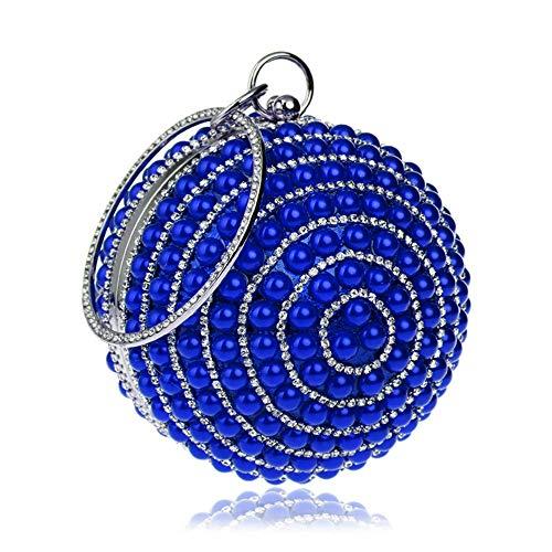 mariée perles sac de sacs main en Pochette rocaille sac perles soirée pour à à prom nuptiale fête soirée perles Sac de de en Vintage femme mariage pochette fête Blanc Bleu Couleur sac Sac de awUvn6Rq1W