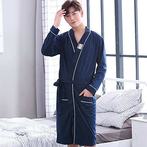 Manga Albornoz Xxxl Hombre Longitud De Algodón Pijamas Y Primavera Código Mangeoo Hombres Para Grande Larga Suelto Jóvenes Otoño Media Estilo Rq6w7np