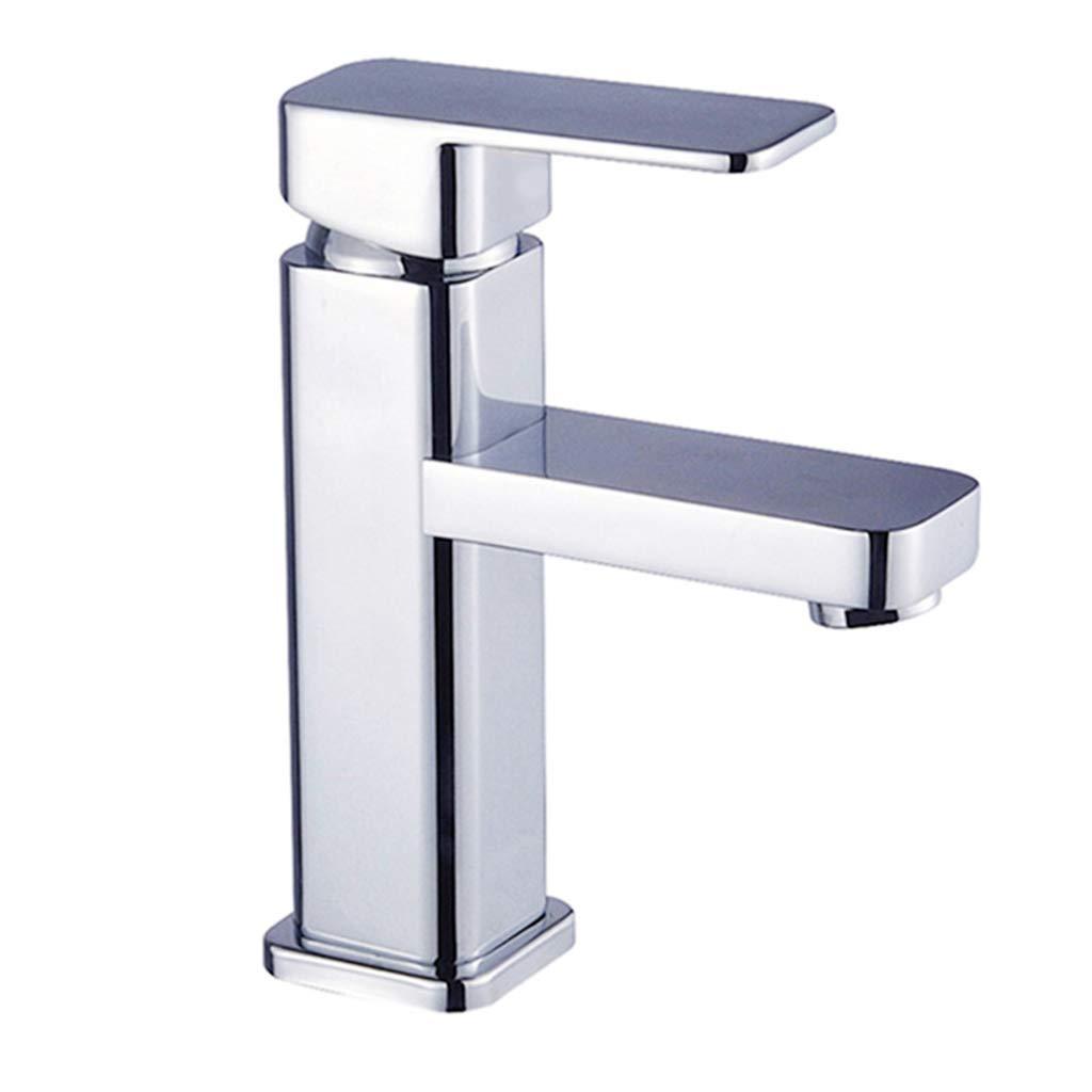 Edelstahl Wasserhahn Einlochmontage Becken Wasserhahn Heiß Und Kalt Waschbecken Mischbatterie Für Küche Badezimmer
