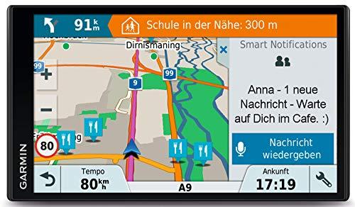 Garmin Drive Smart 61 LMT-D EU Navigationsgerät, Europa Karte, lebenslang Kartenupdates und Verkehrsinfos, Smart…