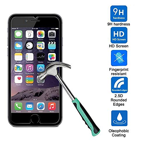 【3-Pack】iPhone 8 Plus/7 Plus/6 Plus Screen Protector [5.5''inch], HD Tempered Glass,Anti-Scratches,Anti-Fingerprint, Case Friendly Screen Protector for Apple iPhone 8 Plus/7 Plus/6 Plus by TangDirect (Image #1)