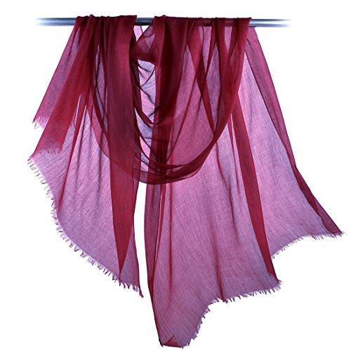 """Cashmere Scarf Women Pashmina Scarf-ZORJAR Ultra Shawls and Wraps 39""""x94""""(Burgendy)"""