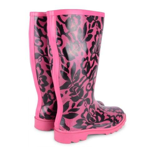 Footwear Sensation - Botas de agua de sintético mujer Fuchsia Lace