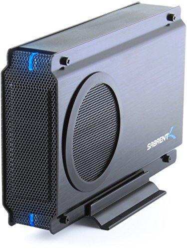 - Sabrent USB 2.0/ESATA TO 3.5 Inch IDE or SATA/SATA II Aluminum Hard Drive Enclosure Case with Cooling Fan (EC-UEIS7) (Renewed)