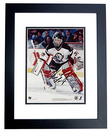 Dominick Hasek Signed - Autographed Buffalo Sabres 8x10 inch Photo BLACK CUSTOM FRAME - Guaranteed to pass or JSA - PSA/DNA Certified (Buffalo Sabres Photo Nhl Signed)