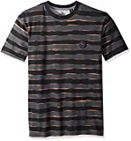 Quiksilver Men's Short Sleeve Allover Print Mad Wax, Black Mad Max Stripes, XL